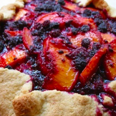 Peach & Blackberry Rustic Tart