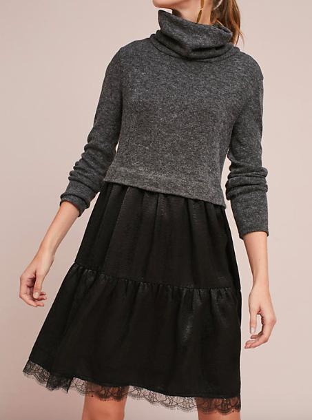 Mock Neck Dress ( $148, now 30 % OFF)
