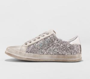Gray Glitter Sneakers