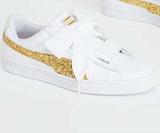 White + Gold Sneakers