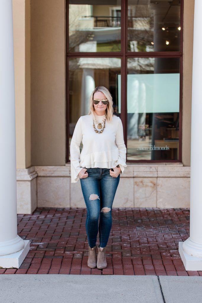 Ruffle-Sleeve Sweater | Booties