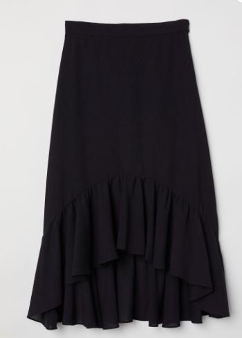 Black Flounce Skirt