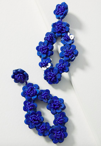 Floral Drop Earrings $38