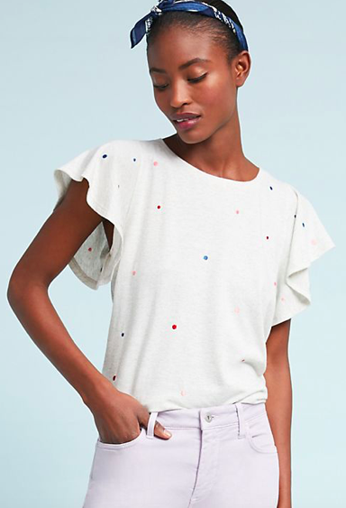 Flutter Sleeve Top $58