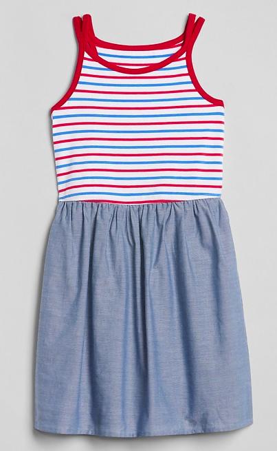 Mixed Fabric Dress $21
