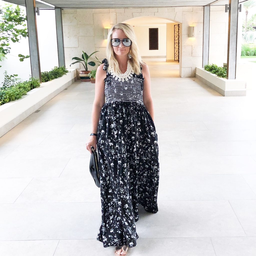 Maxi dress on The Style Hostess