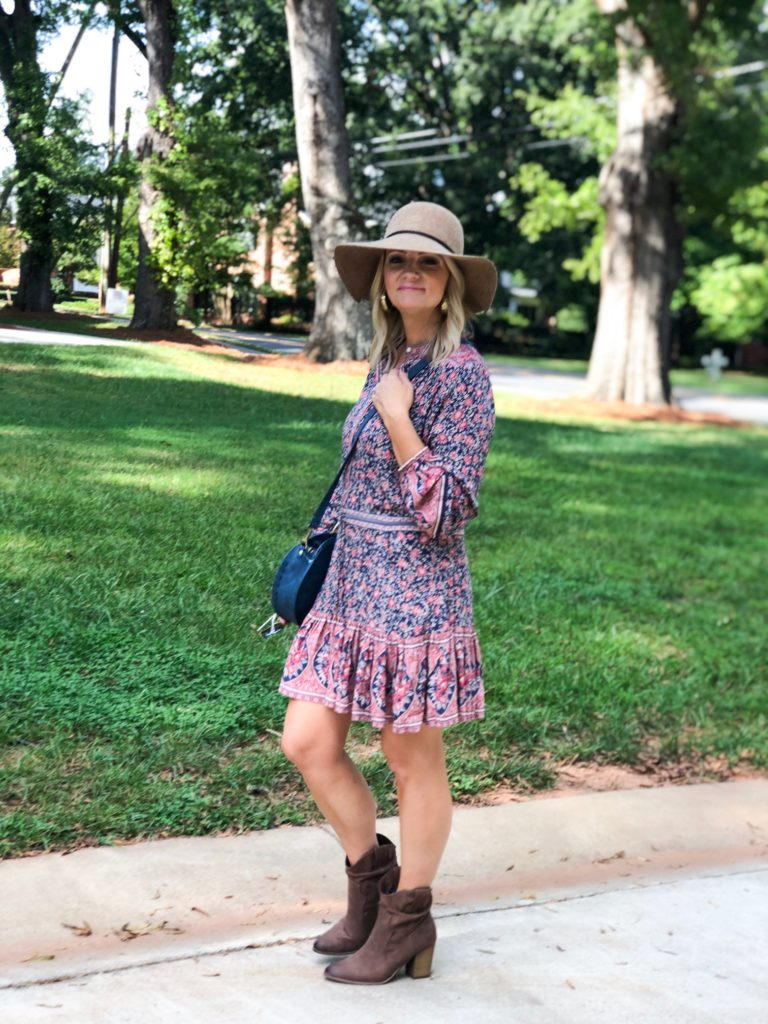 Boots (under $50) | Dress (Mine is from Boem) |  Hat