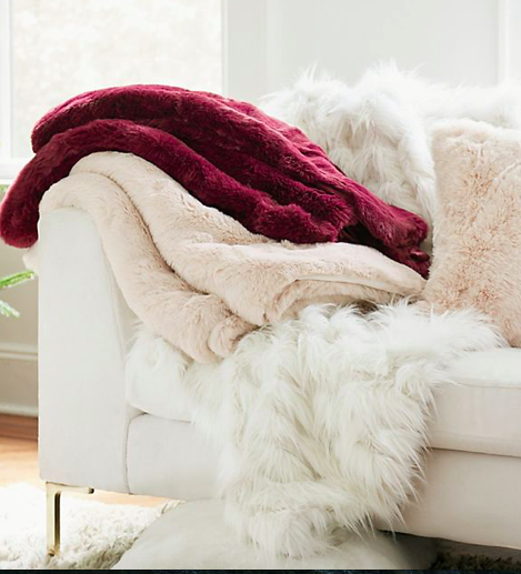(9) Faux Fur Throw Blanket